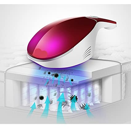 LOERO Esterilización además de ácaros Ideal para Colchones, Aspirador de cama con luz ultravioleta Aspirador