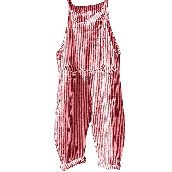 Luckycat Mono Mujer Mangas Casual sólidas de algodón de ...
