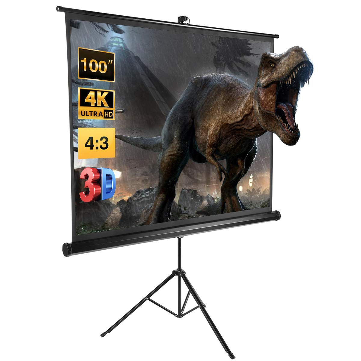 Excelvan - Pantalla de proyección portátil para proyectores de 100 ...