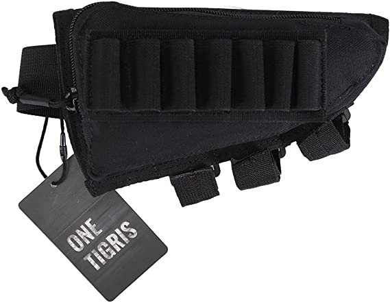 OneTigris Tactical Buttstock Shotgun Rifle Shell Holder Cheek Rest Pouch
