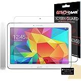[Pack de 5] TECHGEAR® Samsung Galaxy Tab 4 10.1 Pouces (SM-T530 / SM-T531 / SM-T535) Film de Protection Ultra Clair pour Écran LCD avec Chiffon de Nettoyage & Carte d'Application