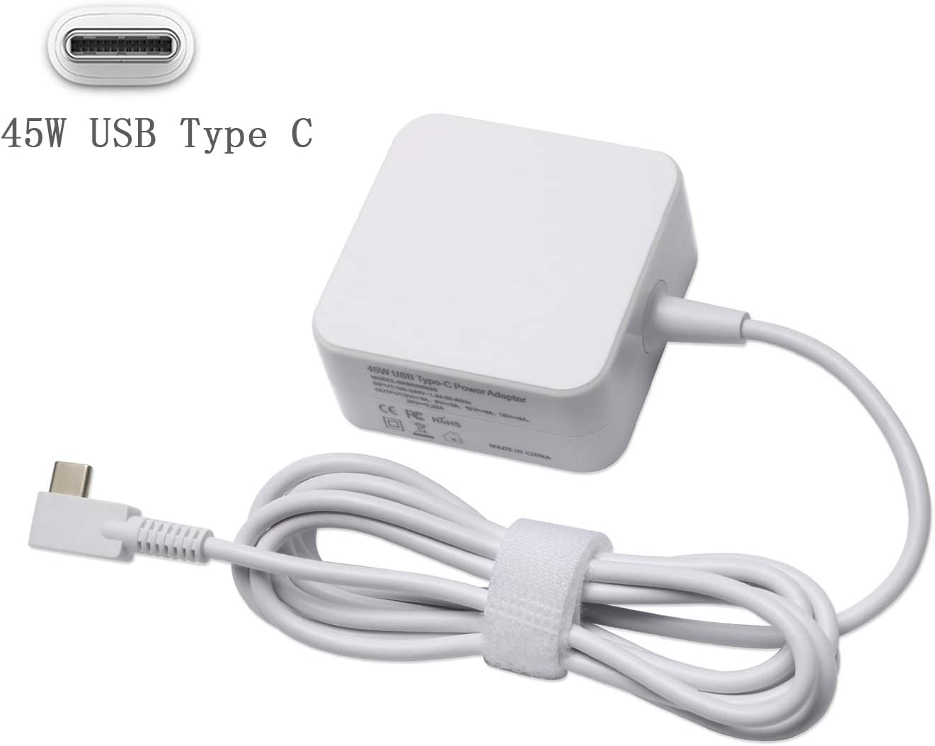 45W USB Type C AC Adapter Replacement for HP Spectre x360 13 HP Pavillion X2,Yoga 910 720 Yoga 5,Acer Travelmate B1,ASUS ZenBook 3 UX390 90,Lenovo Tablet,Google Pixel 3,MacBook Prowith USB C Chargeing