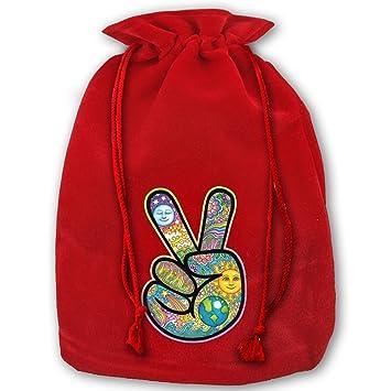 Amazon.com: Personalizado cordón Noel, color rojo V Símbolo ...