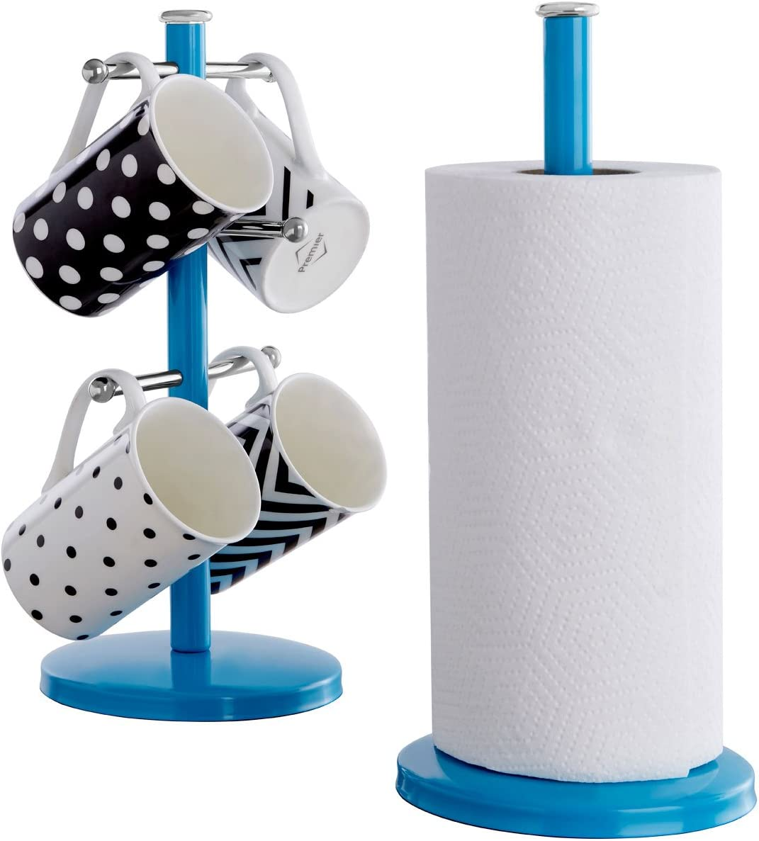 Premier Housewares Blue Kitchen Roll Holder