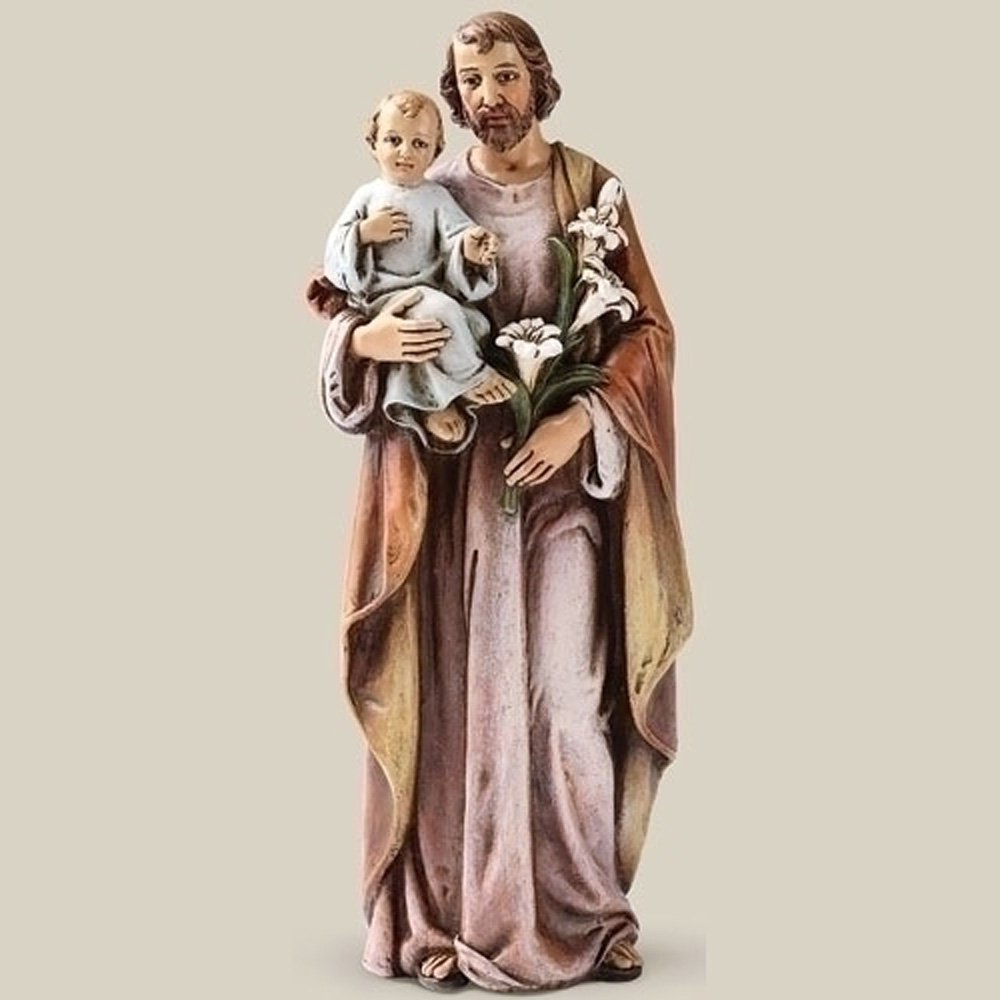 amazon com catholic gift 6 inch stone resin saint st joseph with