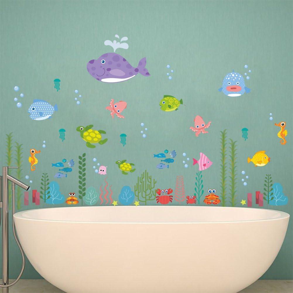 per soggiorno motivo: mondo sottomarino camera da letto cameretta dei bambini in confezione regalo ElecMotive Adesivo da parete