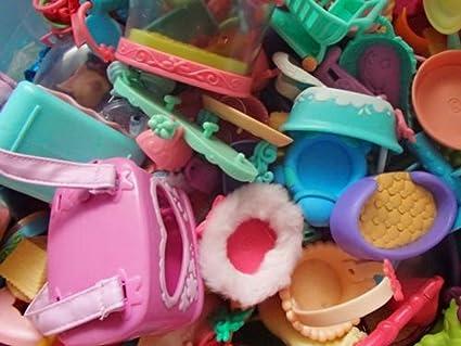 Random 10x Littlest Pet Shop Accessories LPS Parts Chair Bag Car Lot Toy Doll