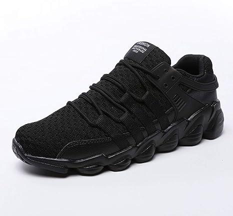 WDDGPZYDX Zapatillas de Deporte Blancas Acolchadas Negras Camisas de Hombre Gruesas Inferiores Calzado Informal Hombre Tallas Grandes 46 Zapatillas de Hombre Calzado Transpirable,Negro,7: Amazon.es: Deportes y aire libre