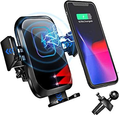 Blsyetec Wireless Charger Auto 15w Kabelloses Kfz Ladegerät Handyhalterung Auto 0 1s Qi Induktion Automatisches Spannarm Handyhalter Schnellladegerät Für Iphone 12 11 Se 2 Samsung Galaxy Lg Qi Handys Elektronik