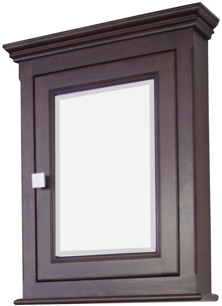 36-in. W x 31.5-in. H Modern Plywood-Veneer Wood Mirror In Walnut