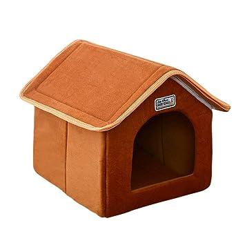 XSQRGG Casa De Mascotas Cama Plegable con Estera Perro Suave Puppy Sofa Cushion Casa Kennel Nest