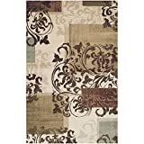 Blue Nile Mills Storyville 4' x 6' Area Rug, Contemporary Living Room & Bedroom Area Rug, Anti-Static and Water-Repellent for Residential or Commercial Use, 4-feet by 6-feet