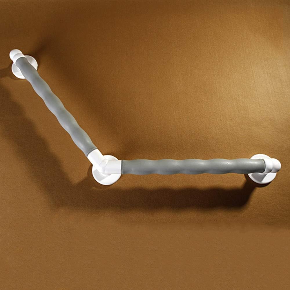 ZZHF fushou バスルーム手すり/アルミニウム合金バスタブグリップレール/バスルームトイレシャワールームオールドマンノンスリップアクセシビリティ135°アームレスト(2色/ 2サイズあり) (色 : Gray, サイズ さいず : 55*55センチメートル) 55*55センチメートル Gray B07PQW43PG