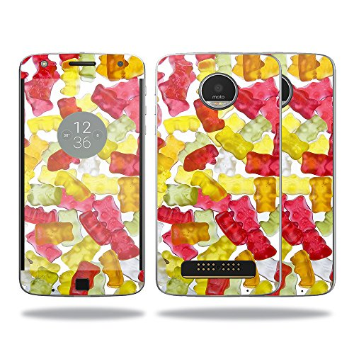 MightySkins Skin for Motorola Moto Z Play Case – Gummy Bears | Protective, Durable, and Unique Vinyl Decal wrap Cover | Easy to Apply, Remove, and Change Styles | Made ()