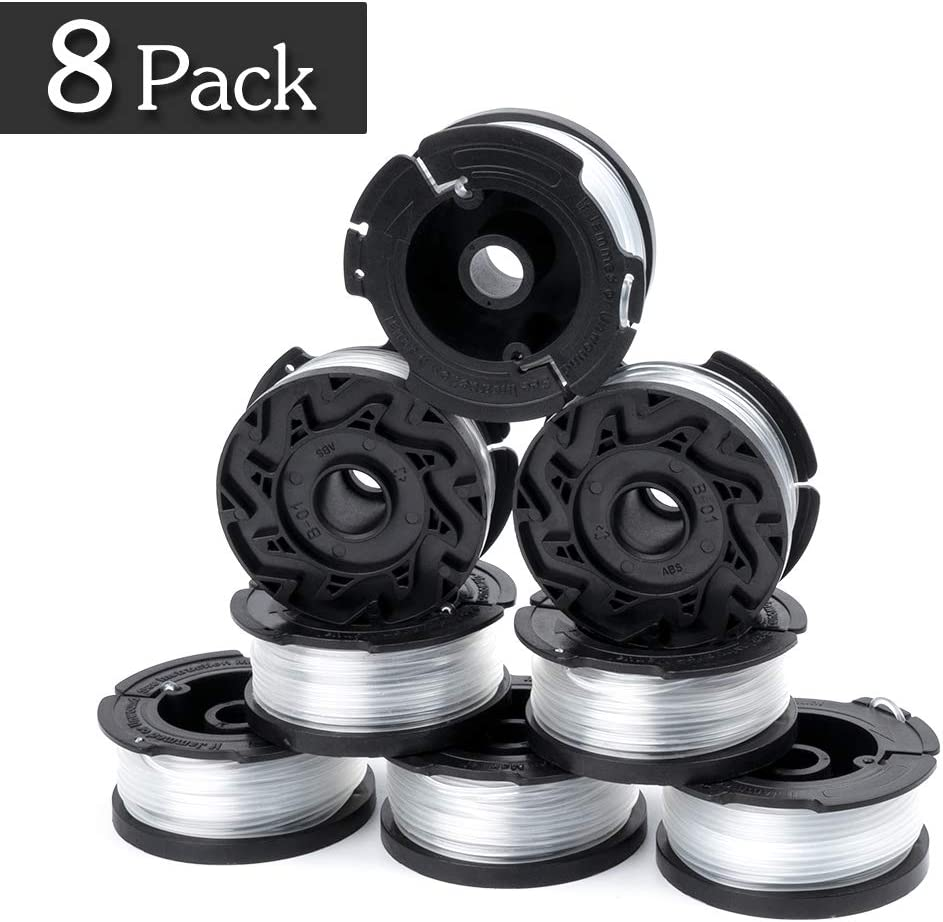 "Futureway Weed Eater Spool Compatible mit Black Decker Gh900 Lst201 Cordless Trimmer, 0.065"" 30Foot Strimmer Trimmer Spools für Af-100(8-Pack)"
