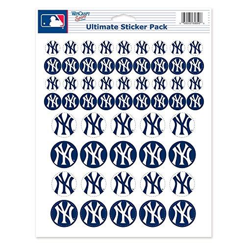 WinCraft MLB New York Yankees Vinyl Sticker Sheet, 8.5