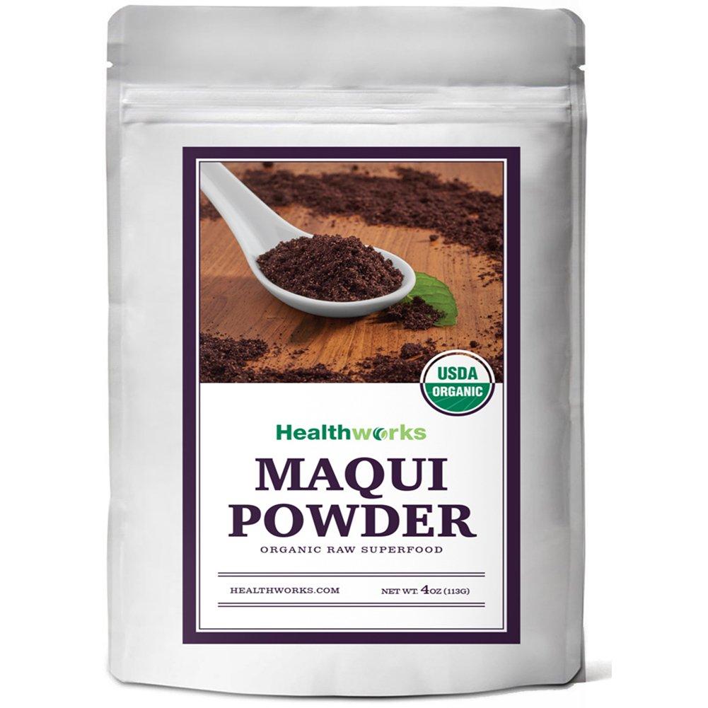 Amazon Com Healthworks Maqui Berry Powder Organic 4oz Grocery