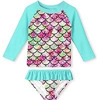 d5a919870a8 YRCUONE Girls Two Piece Swimsuit Set Long Sleeve Rashguard Swimwear with  UPF 50+ Summer Beach