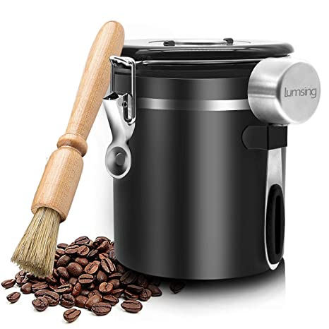 Amazon.com: Recipiente de café hermético de acero inoxidable ...