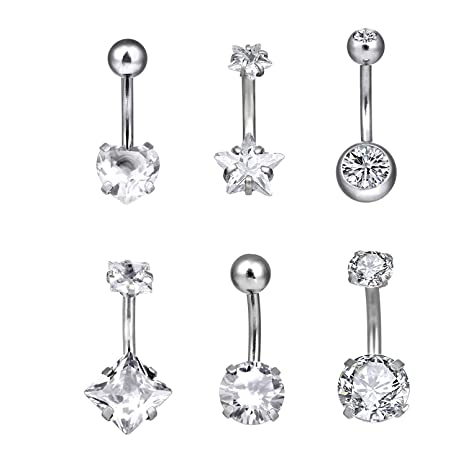 Supply Piercing Nombril Crystal En Acier Chirurgical 316l Jewelry & Watches