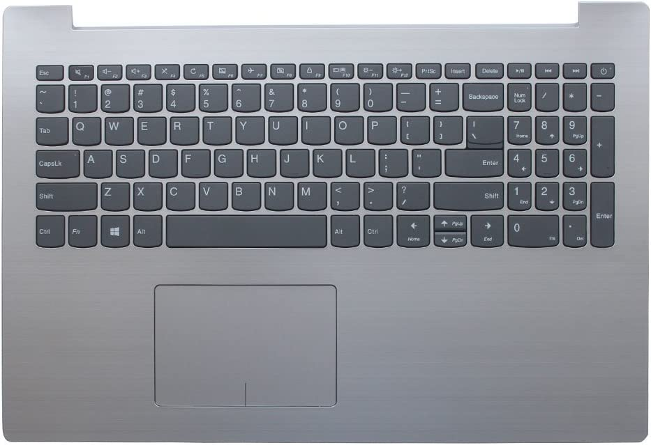 New Laptop Replacement Keyboard for Lenovo IdeaPad 320-15 320-15IAP 320-15AST 320-15IKB US Layout with C Shell (Sliver) 15""