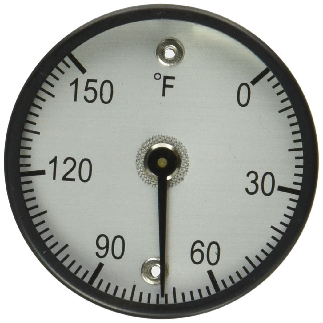 """PIC Gauge B2MS-E 2"""" Dial Size, 0/150°F, Surface Mount, Magnetic Connection, Black Steel Case Surface Mount Thermometer"""