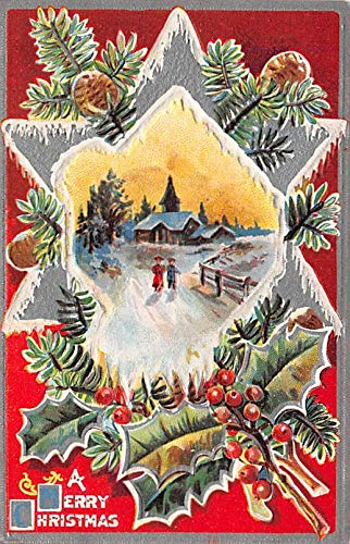 Christmas Holiday Postcard Vintage Xmas Post Card Unused