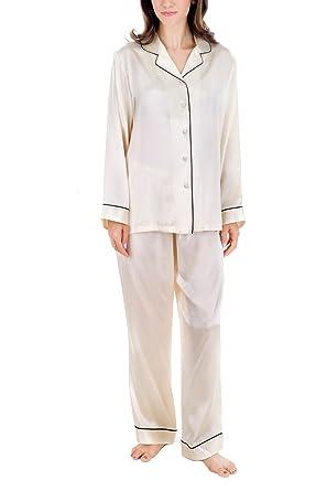 4666004e1d OSCAR ROSSA Women s Luxury Silk Sleepwear 100% Silk Pajamas Set at ...