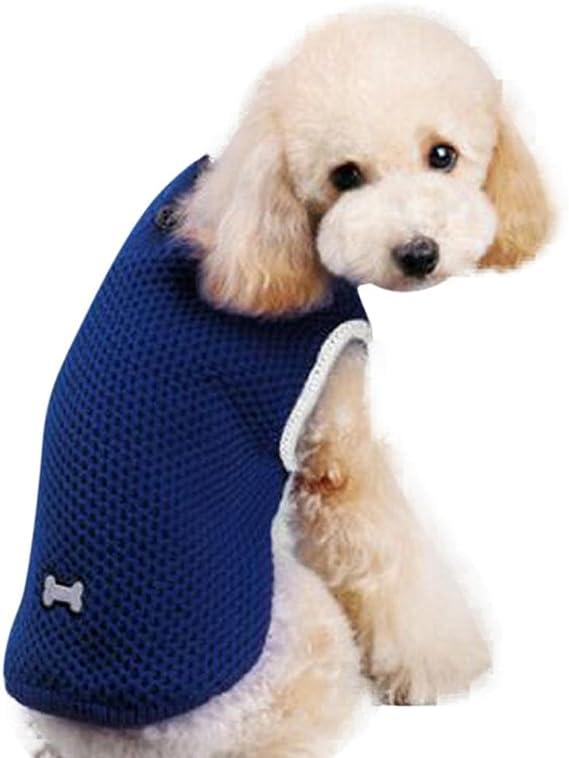 Angelof Vetement ChienChat Manteau Chien Petit Chandail D'Os Manteau Chien sans Manche Habit pour Pet Chien Hiver Chaud Veste Chihuahua Pull pour