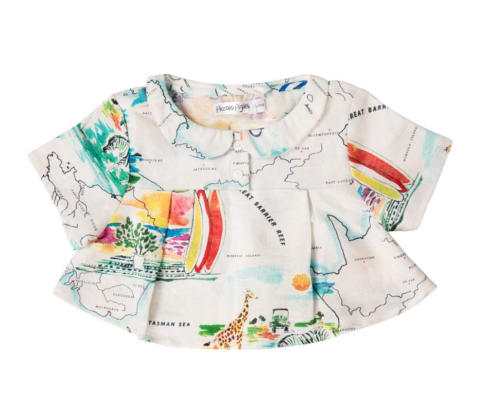 Piccolo Piglet Peter Pan Multicoloured Top for Baby Girls (3T) by Piccolo Piglet