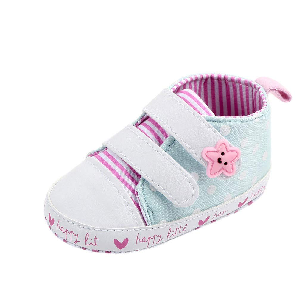 Velcro Sneakers Baby Girls Toddler Flower Lace Canvas First Walkers Shoes