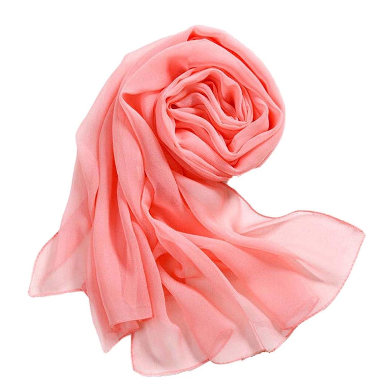 SANNYSIS Girls Women Long Soft Thin Wrap Lady Shawl Chiffon Scarf Beach Scarves (Watermelon Red)