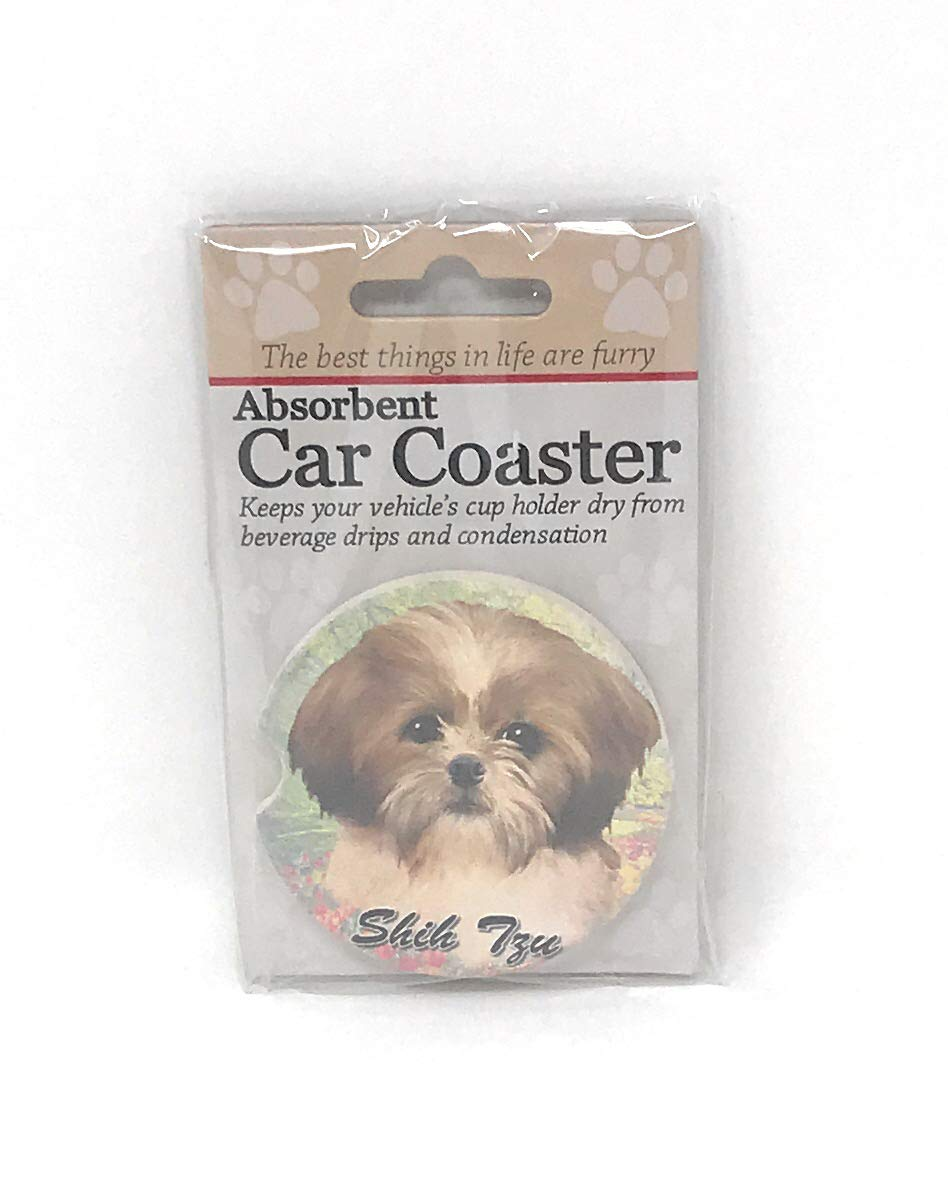 1 to do list Includes 1 dog mat 1 coaster and 1 magnet with tan Shih Tzus on them Shih Tzu tan Bundle of 5 items 1 pen