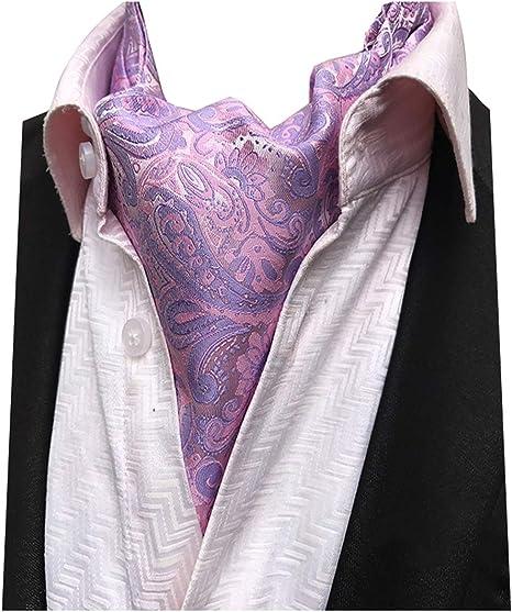 100/% woven silk men/'s cravat//scarf Pale pink NEW