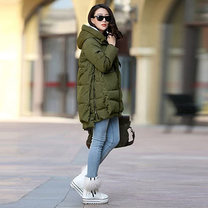 Amazon.com: Nadition Coat Clearance 🌹 Women Coats Thickening Cotton Coat Fashion Loose Winter Casual Solid Coat: Clothing