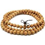 ヒノキ(太行山崖柏)数珠 男性用女性用ブレスレット 油分が高いヤーバイ念珠 本場の生薬のにおい付き 腕輪の数珠 天然素材