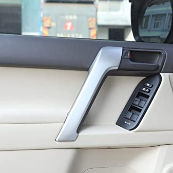 Carbon Fiber ABS Inner Door Handle Trim Cover For Toyota Prado FJ150 2010-2019