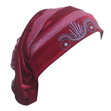 Farben und auffällig klassischer Chic professionelle Website Amazon.com: Women Lady Diamond Beanie Turban Hut Cap Muslim ...