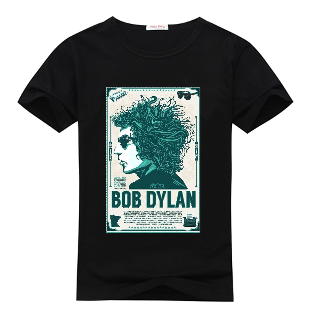 9eb982f8aca ElisTT Custom Men s Bob Dylan Printed T-shirt Short Sleeve T Shirt ...