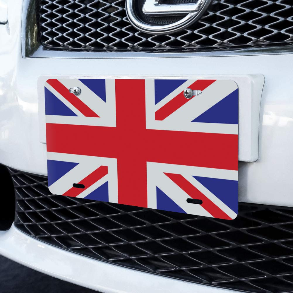 UK Great Britain Union Jack Novelty Metal Vanity License Tag Plate Graphics and More United Kingdom Flag