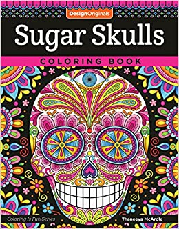 Sugar Skulls Coloring Book Fun Low Skull Edupics Different Adult ...