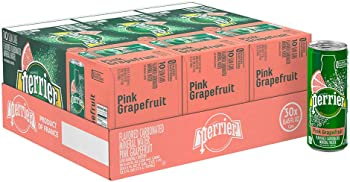 30-Pack Perrier Sparkling Flavored Natural Mineral Water