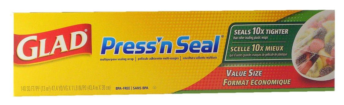 Glad Press 'n Seal Wrap (One Roll, 140 sq. ft.)
