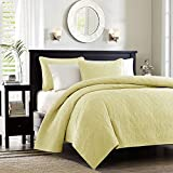 Madison Park Quebec 3 Piece Coverlet Set, Full/Queen, Yellow
