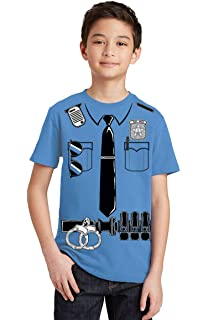 Amazon.com: Uniforme de policía disfraz Halloween niños ...