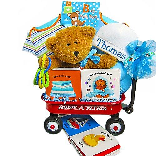 B Is For Boy Baby Wagon & Gift Basket
