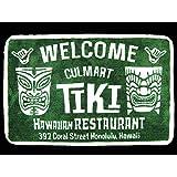 【ハワイアン フロア マット/玄関マット 室内 】ティキ/TIKI/1262 カルチャーマート もようがえ おしゃれマット かわいいマット インテリアマット 洗える ハワイアン雑貨 アメリカ雑貨 ハワイトイレ