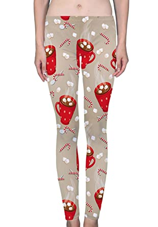 1f8cfc44af23f Hot Chocolate Hot Drinks Christmas Women's Printed Leggings Soft Stretchy  Workout Yoga Pants Fashion Sports Pants