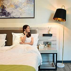WangYi lámpara de Piso- Lámpara de pie Dormitorio Sala de Estar Lámpara Vertical de mármol Creativa IKEA, Interruptor de pie, Blanco, Negro (Color : Black, Size : 183x27.5cm): Amazon.es: Hogar