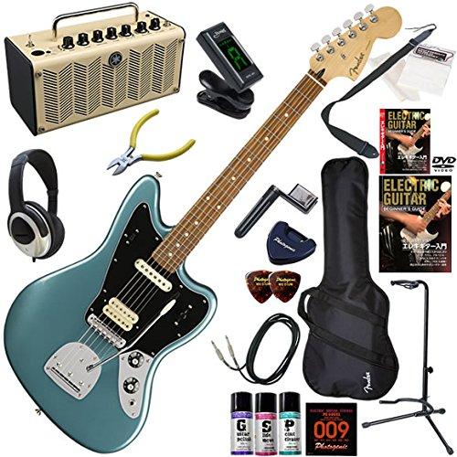 FENDER エレキギター 初心者 入門 メキシコ製 クラシックサウンドにモダンなタッチを加えたジャガー。 レトロなデザインで多機能高音質のYAMAHA THR5が入ってる大人の19点セット Player Jaguar/TPL(タイドプール)  TPL(タイドプール) B07FL92XNQ